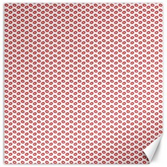 Lipstick Red Kisses Lipstick Kisses Canvas 12  X 12