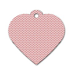 Lipstick Red Kisses Lipstick Kisses Dog Tag Heart (two Sides)