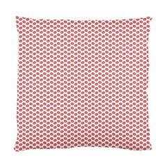 Lipstick Red Kisses Lipstick Kisses Standard Cushion Case (Two Sides)