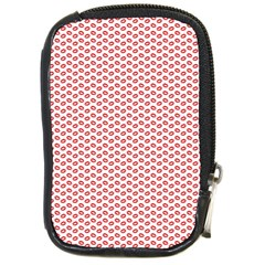 Lipstick Red Kisses Lipstick Kisses Compact Camera Cases