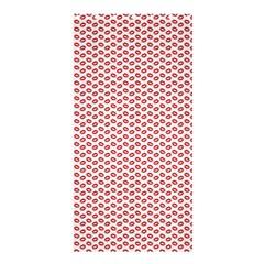 Lipstick Red Kisses Lipstick Kisses Shower Curtain 36  x 72  (Stall)