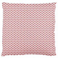 Lipstick Red Kisses Lipstick Kisses Large Cushion Case (One Side)