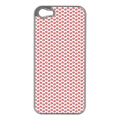 Lipstick Red Kisses Lipstick Kisses Apple iPhone 5 Case (Silver)