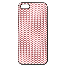 Lipstick Red Kisses Lipstick Kisses Apple iPhone 5 Seamless Case (Black)