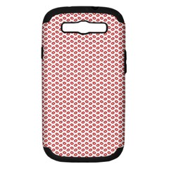 Lipstick Red Kisses Lipstick Kisses Samsung Galaxy S III Hardshell Case (PC+Silicone)