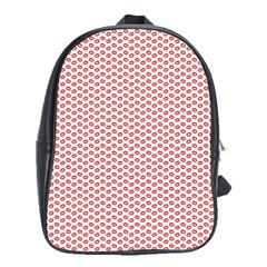 Lipstick Red Kisses Lipstick Kisses School Bags (XL)