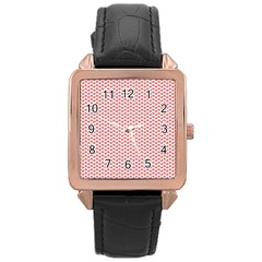 Lipstick Red Kisses Lipstick Kisses Rose Gold Leather Watch
