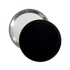 Black and Grey Perforated PInhole Carbon Fiber 2.25  Handbag Mirrors