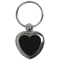 Black and Grey Perforated PInhole Carbon Fiber Key Chains (Heart)