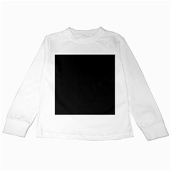 Black and Grey Perforated PInhole Carbon Fiber Kids Long Sleeve T-Shirts