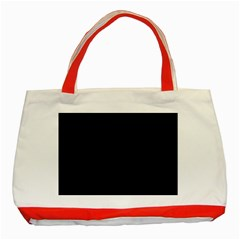Black and Grey Perforated PInhole Carbon Fiber Classic Tote Bag (Red)