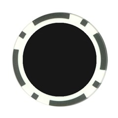 Black and Grey Perforated PInhole Carbon Fiber Poker Chip Card Guard