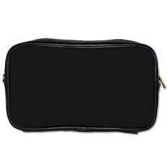 Black and Grey Perforated PInhole Carbon Fiber Toiletries Bags