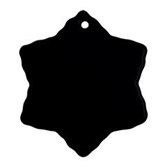 Black and Grey Perforated PInhole Carbon Fiber Snowflake Ornament (Two Sides)