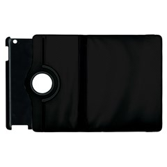 Black and Grey Perforated PInhole Carbon Fiber Apple iPad 3/4 Flip 360 Case