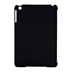 Black and Grey Perforated PInhole Carbon Fiber Apple iPad Mini Hardshell Case (Compatible with Smart Cover)