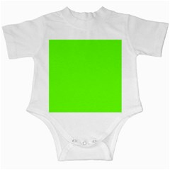 Super Bright Fluorescent Green Neon Infant Creepers