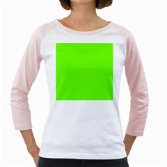 Super Bright Fluorescent Green Neon Girly Raglans
