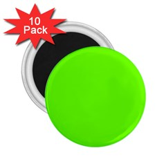 Super Bright Fluorescent Green Neon 2.25  Magnets (10 pack)