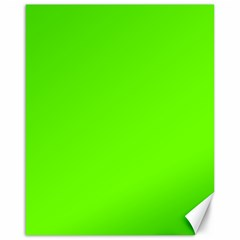 Super Bright Fluorescent Green Neon Canvas 16  x 20