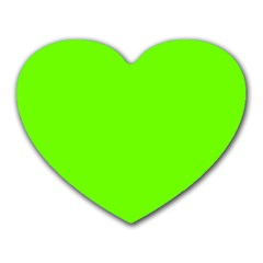 Super Bright Fluorescent Green Neon Heart Mousepads