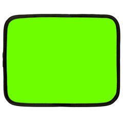 Super Bright Fluorescent Green Neon Netbook Case (Large)