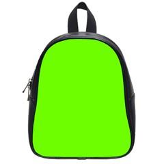 Super Bright Fluorescent Green Neon School Bags (Small)