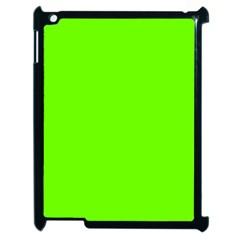Super Bright Fluorescent Green Neon Apple iPad 2 Case (Black)
