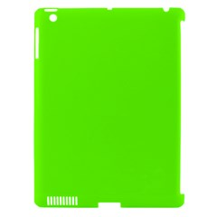 Super Bright Fluorescent Green Neon Apple iPad 3/4 Hardshell Case (Compatible with Smart Cover)