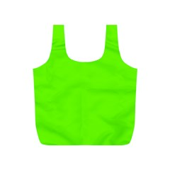 Super Bright Fluorescent Green Neon Full Print Recycle Bags (S)