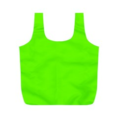 Super Bright Fluorescent Green Neon Full Print Recycle Bags (M)