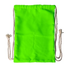 Super Bright Fluorescent Green Neon Drawstring Bag (Large)