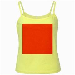 Bright Fluorescent Attack Orange Neon Yellow Spaghetti Tank