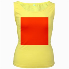 Bright Fluorescent Attack Orange Neon Women s Yellow Tank Top