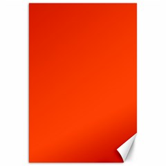Bright Fluorescent Attack Orange Neon Canvas 20  x 30