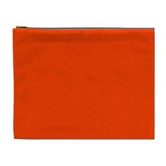 Bright Fluorescent Attack Orange Neon Cosmetic Bag (XL)