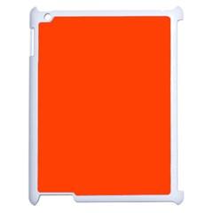 Bright Fluorescent Attack Orange Neon Apple iPad 2 Case (White)
