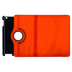 Bright Fluorescent Attack Orange Neon Apple iPad 2 Flip 360 Case