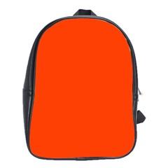 Bright Fluorescent Attack Orange Neon School Bags (XL)