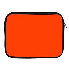 Bright Fluorescent Attack Orange Neon Apple iPad 2/3/4 Zipper Cases