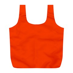 Bright Fluorescent Attack Orange Neon Full Print Recycle Bags (L)