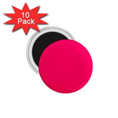 Super Bright Fluorescent Pink Neon 1.75  Magnets (10 pack)