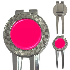 Super Bright Fluorescent Pink Neon 3-in-1 Golf Divots