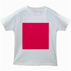 Super Bright Fluorescent Pink Neon Kids White T-Shirts