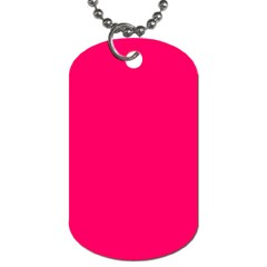 Super Bright Fluorescent Pink Neon Dog Tag (one Side)