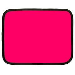 Super Bright Fluorescent Pink Neon Netbook Case (XL)