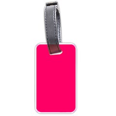 Super Bright Fluorescent Pink Neon Luggage Tags (Two Sides)