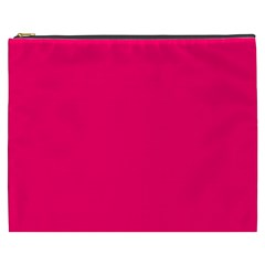 Super Bright Fluorescent Pink Neon Cosmetic Bag (XXXL)
