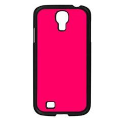 Super Bright Fluorescent Pink Neon Samsung Galaxy S4 I9500/ I9505 Case (Black)