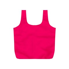 Super Bright Fluorescent Pink Neon Full Print Recycle Bags (s)